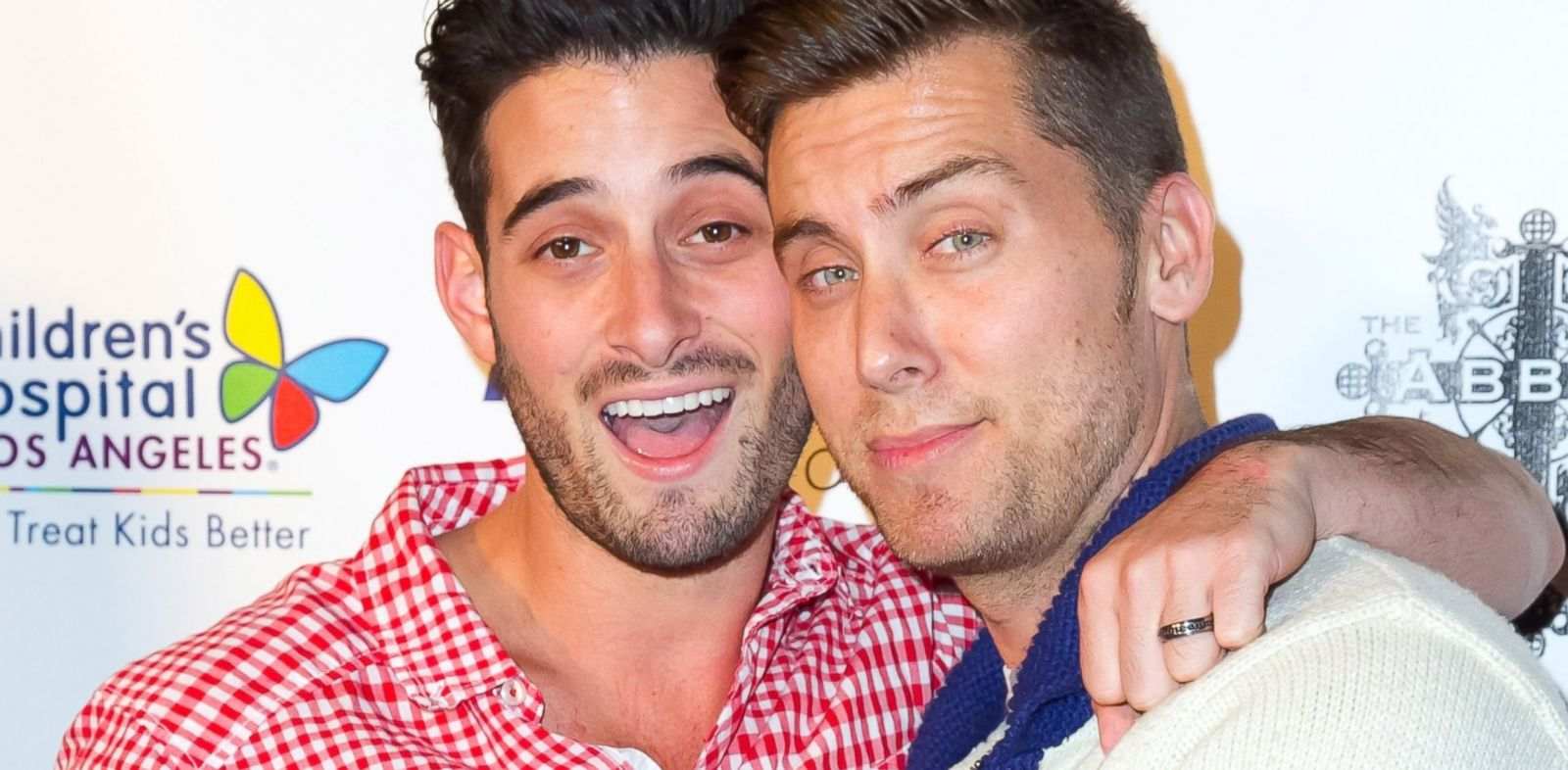 PHOTO: Actor Michael Turchin, left, and singer Lance Bass attend The Abbeys 8th annual Christmas In September Event benefiit, Sept. 24, 2013 in West Hollywood, Calif.