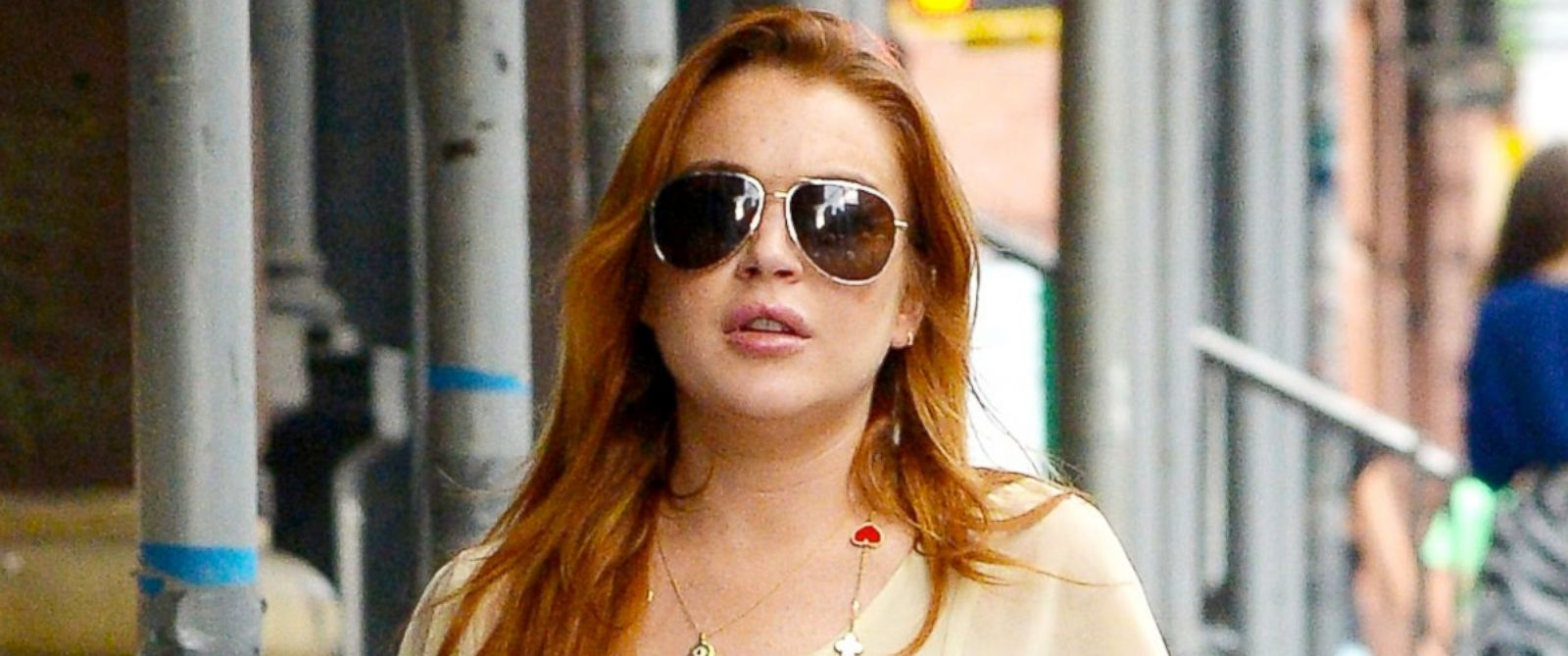 PHOTO: Lindsay Lohan is seen out in New York City, July 1, 2014.