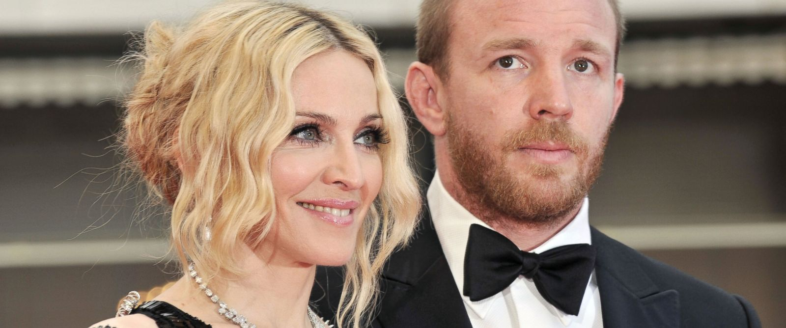 """PHOTO: Madonna and Guy Ritchie arrive at the screening of Nathan Rissmans film """"I Am Beacuse We Are"""" at the 61st Cannes International Film Festival, May 21, 2008, in Cannes, France."""