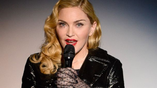 PHOTO: Madonna speaks at the Gagosian Gallery, Sept. 24, 2013 in New York City.