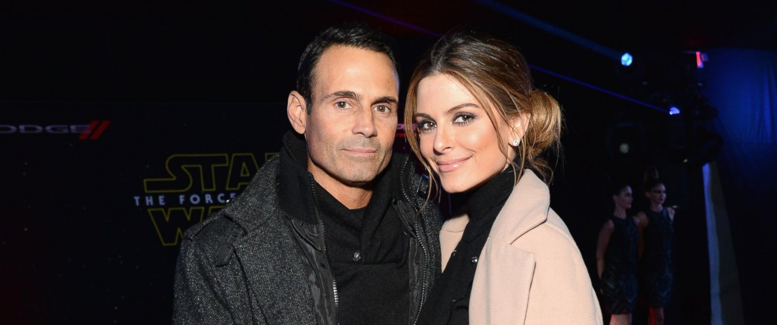 """PHOTO: Keven Undergaro and Maria Menounos arrive at the premiere of Walt Disney Pictures and Lucasfilms """"Star Wars: The Force Awakens,"""" Dec. 14, 2015 in Hollywood, Calif."""