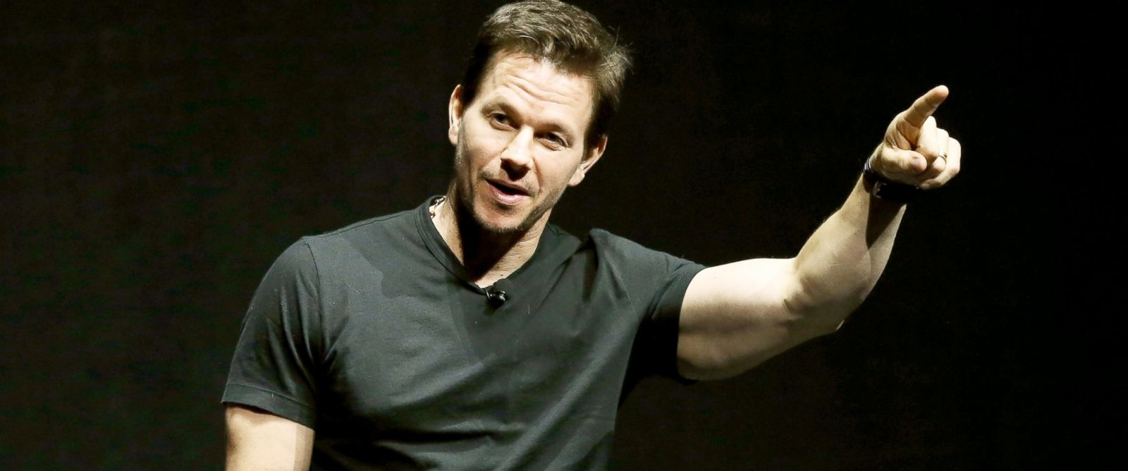 PHOTO: Mark Wahlberg speaks onstage at the Paramount Studios presentation Cinemacon 2014 at Caesars Palace, March 24, 2014, in Las Vegas.
