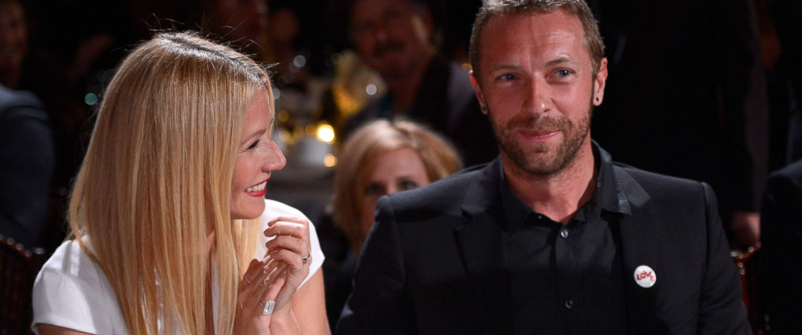 PHOTO: Gwyneth Paltrow, left, and Chris Martin, right, are pictured on Jan. 11, 2014 in Beverly Hills, Calif.
