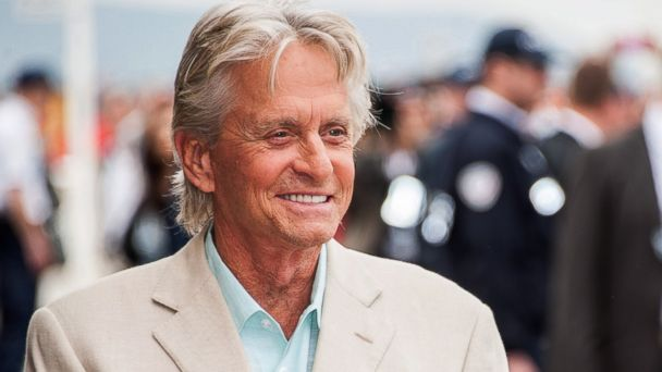 PHOTO: Michael Douglas poses next to the beach closet dedicated to him during a photocall on the Promenade des Planches for the movie Behind the Candelabra during the 39th Deauville American Film Festival in Deauville, France, Aug. 31, 2013.