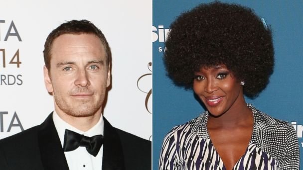 PHOTO: Michael Fassbender attends the Irish Film And Television Awards on April 5, 2014 in Dublin, Ireland. | Naomi Campbell attends her Town Hall at SiriusXM Studios on March 11, 2014 in New York City.