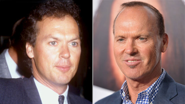 PHOTO: Michael Keaton then and now.