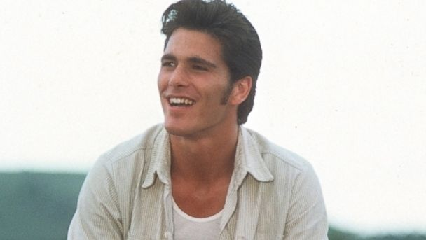 "PHOTO: Michael Schoeffling sits on a fence in a scene from the movie ""Sylvester"" circa 1985."