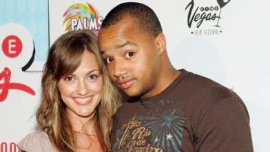 PHOTO: Actor Donald Faison and actress Minka Kelly arrive at the screening of the movie 'Vegas Baby' during the CineVegas film festival at the Brenden Theatres at the Palms Casino Resort June 17, 2005 in Las Vegas.