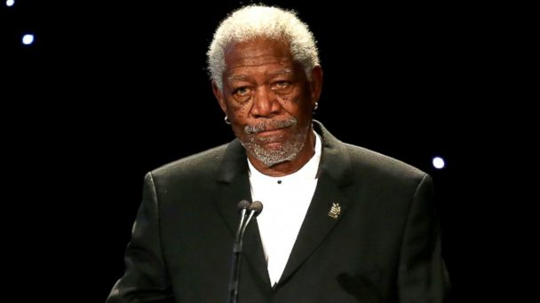 """PHOTO: Morgan Freeman speaks at the United States Holocaust Memorial Museum Presents """"2014 Los Angeles Dinner: What You Do Matters"""" at The Beverly Hilton Hotel in Beverly Hills, Calif., March 6, 2014."""