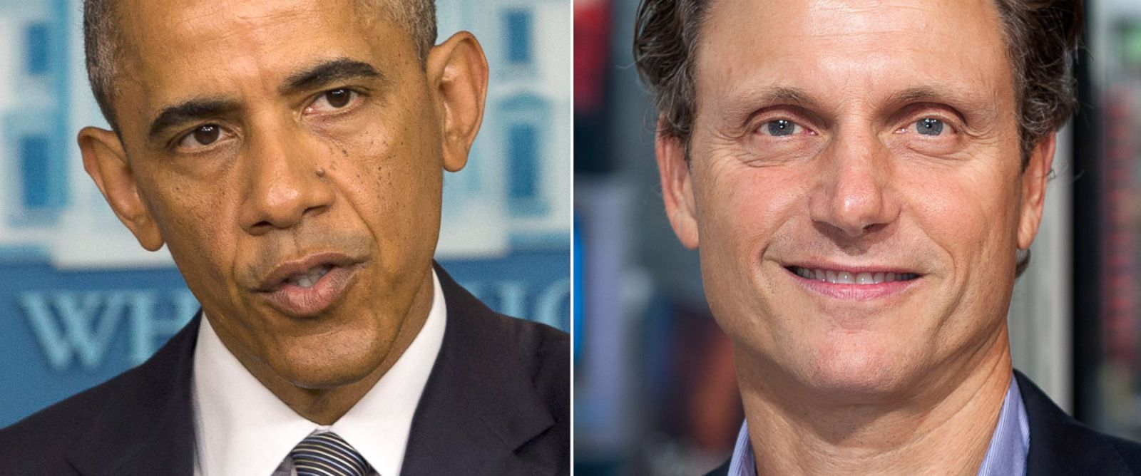 PHOTO: From left, President Barack Obama in Washington, July 18, 2014 and Tony Goldwyn in New York