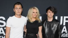 Pamela Anderson Steps Out With Her Sons