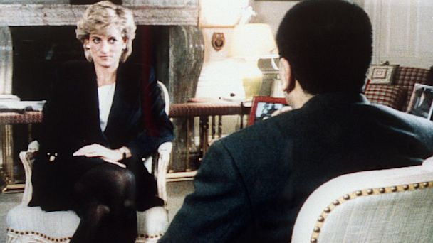 PHOTO: The Princess of Wales is interviewed by the BBCs Martin Bashir,