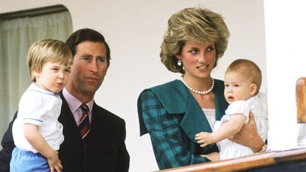 PHOTO: Diana, Princess of Wales and their sons Prince Harry and Prince William