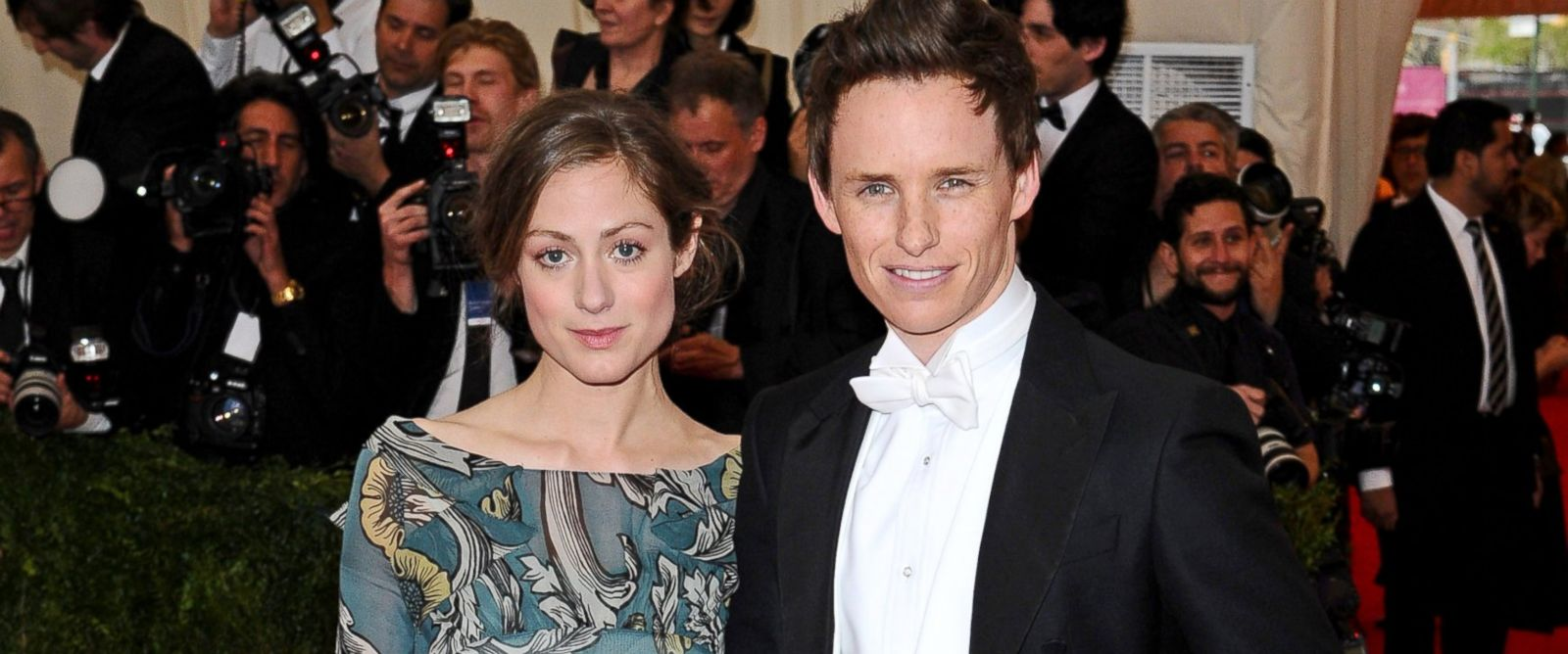 PHOTO: Hannah Bagshawe and Eddie Redmayne attend the Charles James: Beyond Fashion Costume Institute Gala at the Metropolitan Museum of Art, May 5, 2014, in New York City.