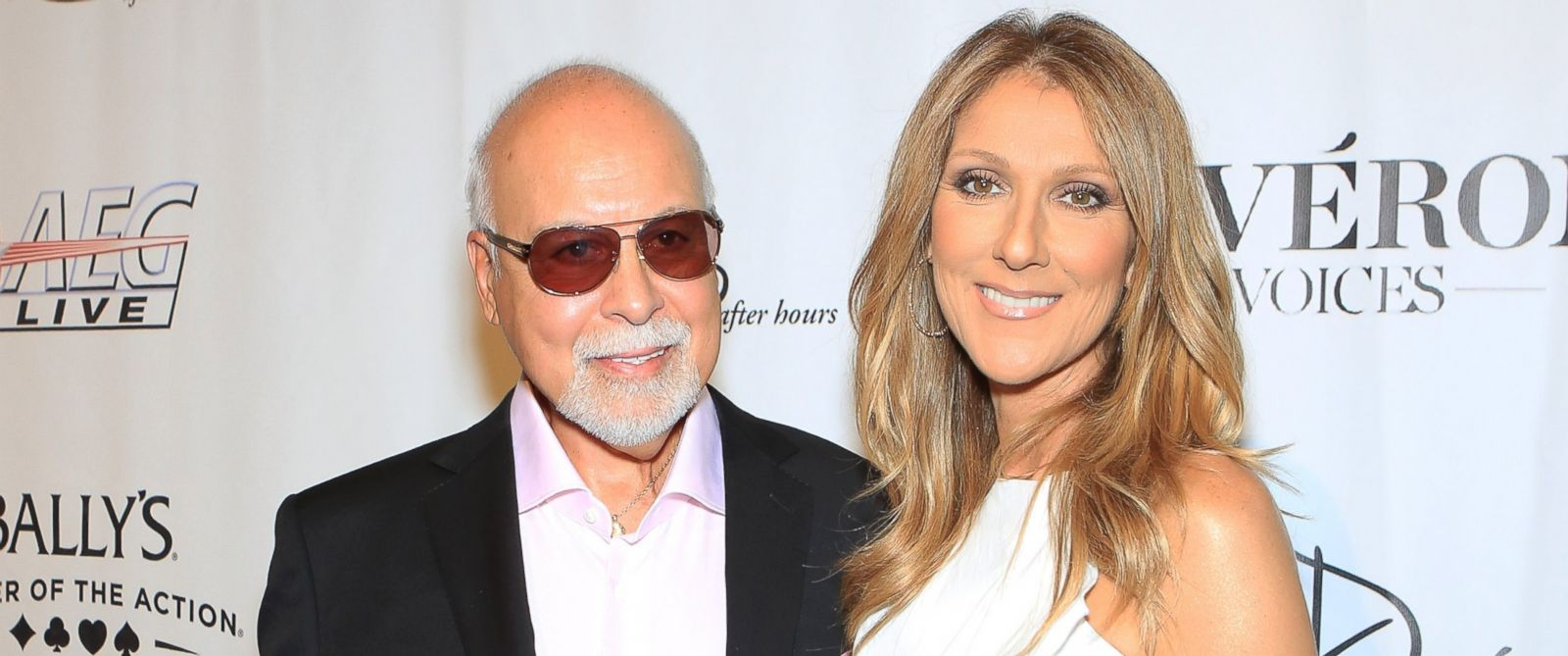 "PHOTO: Rene Angelil, left, and singer Celine Dion arrive at the premiere of the show ""Veronic Voices"" at Ballys Las Vegas, June 28, 2013 in Las Vegas."