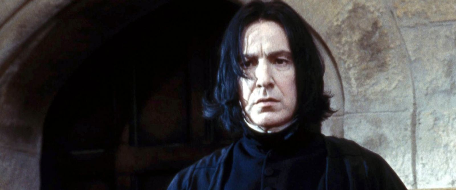 """PHOTO: Alan Rickman, as Severus Snape, in a scene from """"Harry Potter and the Sorcerers Stone."""""""