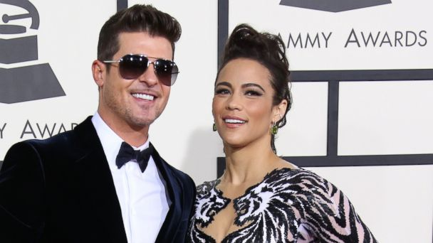 PHOTO: Robin Thicke and Paula Patton arrive at the 20th Annual Screen Actors Guild Awards at the Shrine Auditorium, Jan. 18, 2014 in Los Angeles, Calif.