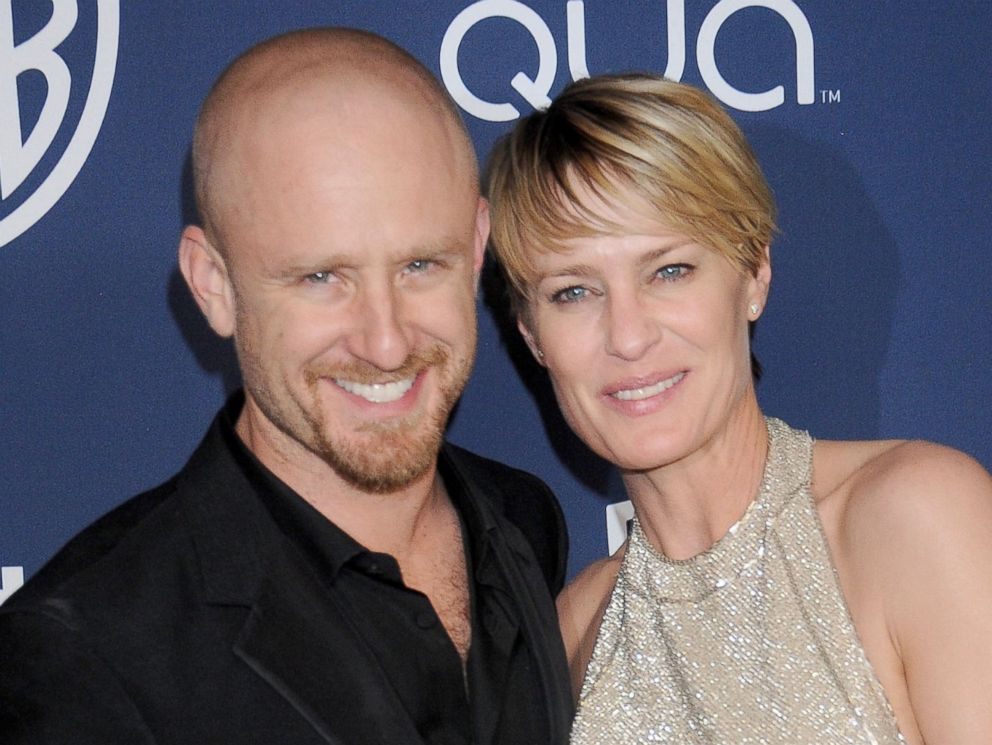 PHOTO: Actors Ben Foster and Robin Wright arrive at the 2014 InStyle And Warner Bros. 71st Annual Golden Globe Awards post-party at The Beverly Hilton Hotel, Jan. 12, 2014 in Beverly Hills, Calif.