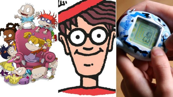 PHOTO: From left, Rugrats, Waldo, and a person playing with a Tamagotchi.
