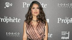 Salma Hayek Pretty in Pink
