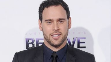 "PHOTO: Scooter Braun arrives at the world premiere of ""Justin Biebers Believe,"" Dec. 18, 2013, in Los Angeles."