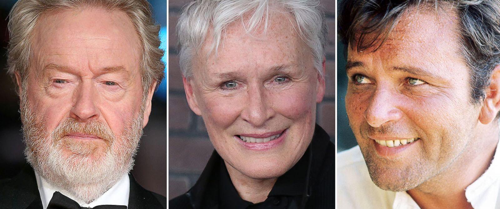 PHOTO: Ridley Scott, Glenn Close and Richard Burton.