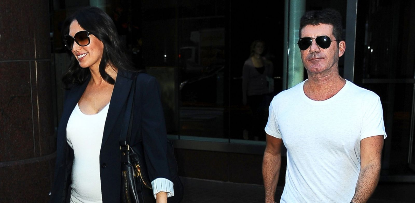 PHOTO: Lauren Silverman and Simon Cowell are seen in Soho, Sept. 19, 2013 in New York City.