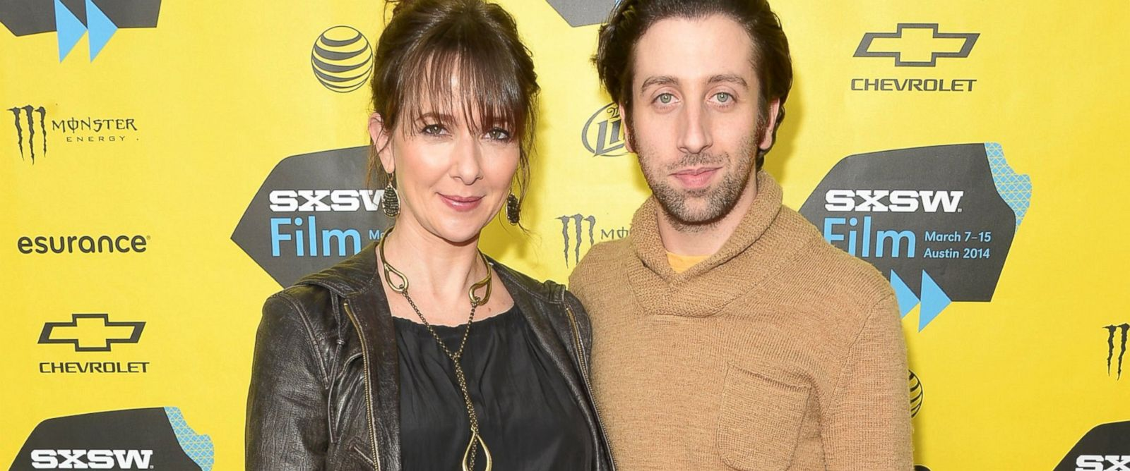 """PHOTO: Jocelyn Towne and Simon Helberg attend the """"Well Never Have Paris"""" premiere during the 2014 SXSW Music, Film + Interactive Festival at the Topfer Theatre at ZACH, March 10, 2014, in Austin, Texas."""