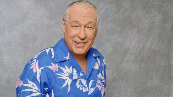 PHOTO: Russell Johnson stands for a portrait dressed in a Hawaiian shirt and khaki pants, 2001.