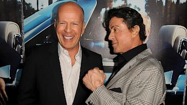 PHOTO: Bruce Willis and Sylvester Stallone