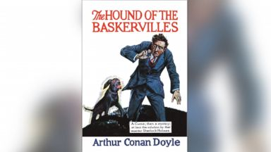 "PHOTO: ""The Hound of the Baskervilles"" #1 book cover circa 1900."