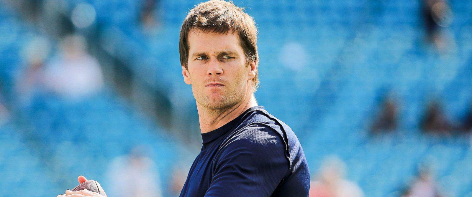 PHOTO: Tom Brady #12 of the New England Patriots warms up before the game against the Miami Dolphins at Sun Life Stadium, Jan. 3, 2016, in Miami Gardens, Florida.