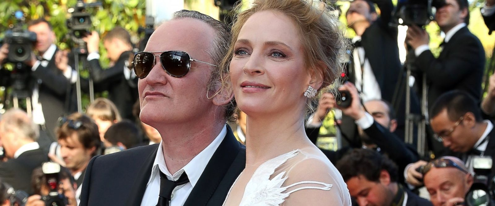 "PHOTO: Uma Thurman and Quentin Tarentino attend the Closing ceremony and ""A Fistful of Dollars"" screening at the 67th Annual Cannes Film Festival, May 24, 2014, in Cannes, France."