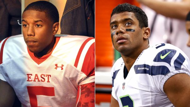 PHOTO: Vince Howard in Friday Night Lights and Seattle Seahawks quarterback, Russell Wilson.