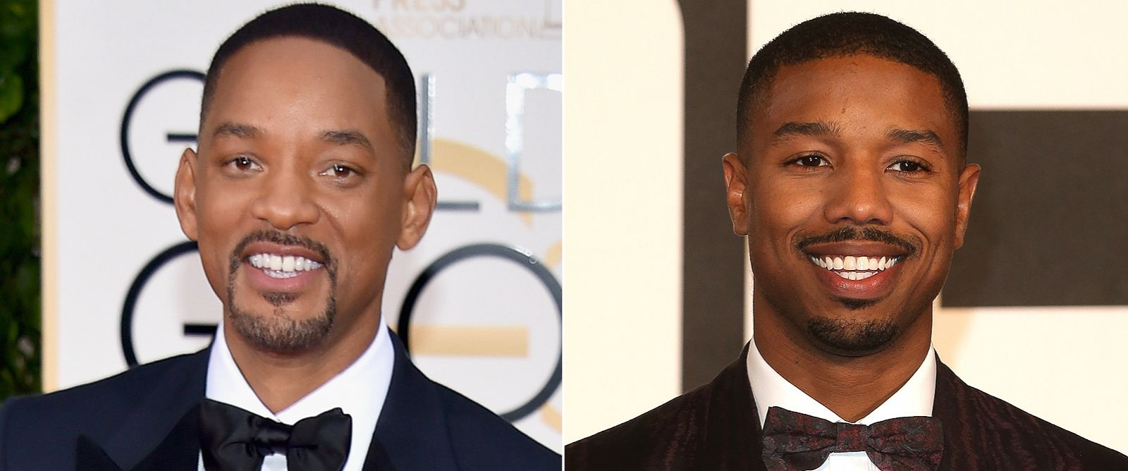 PHOTO: Pictured (L-R) are Will Smith in Beverly Hills, Calif., Jan. 10, 2016 and Michael B. Jordan in London, Jan. 12, 2016.
