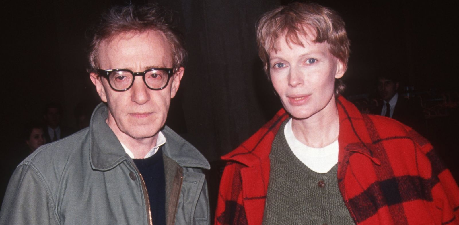 "PHOTO: Woody Allen and actress Mia Farrow attend the party for ""Howards End"" at Tavern on the Green"