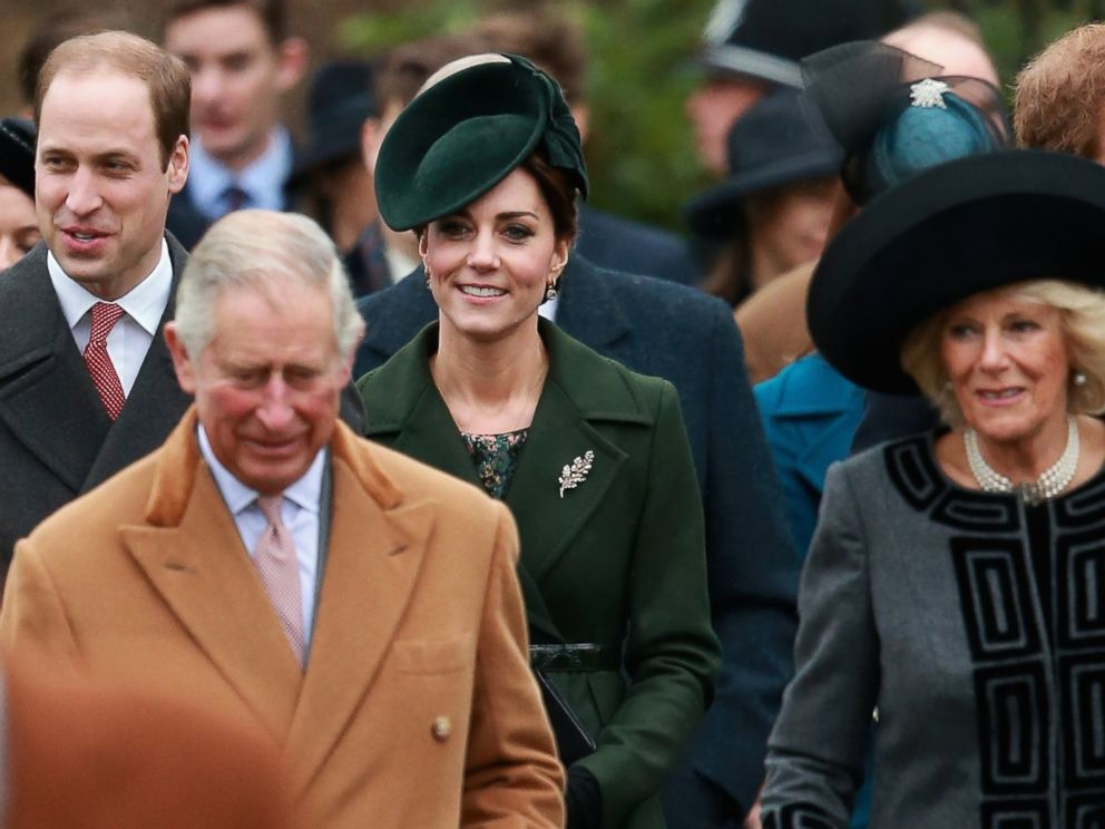PHOTO: Prince William, Duke of Cambridge, Prince Charles, Prince of Wales, Catherine, Duchess of Cambridge and Camilla, Duchess of Cornwall attend a Christmas Day church service at Sandringham on Dec. 25, 2015 in Kings Lynn, England.