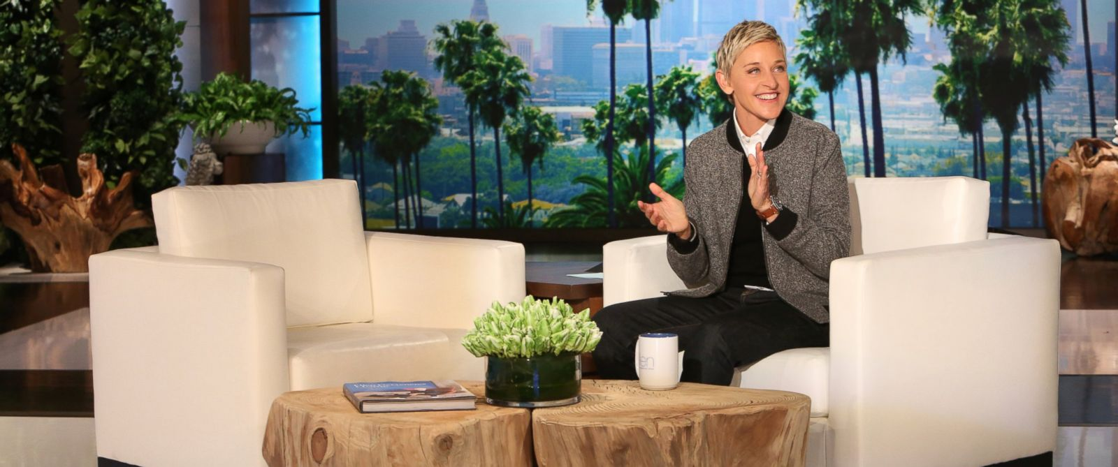 PHOTO: Talk show host Ellen DeGeneres announces that she and wife Portia de Rossi got a new puppy on the show airing Thursday, January 14, 2016.