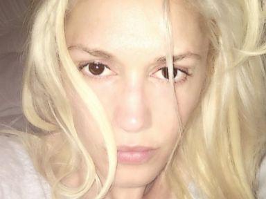 Gwen Stefani Goes Barefaced for a Selfie