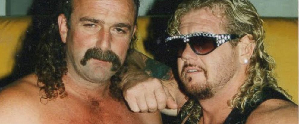 "PHOTO: Jake ""the snake"" Roberts and Diamond Dallas Page are seen in this 1993 file photo."