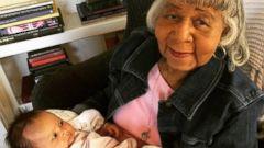 John Legends Daughter Luna Meets Granny