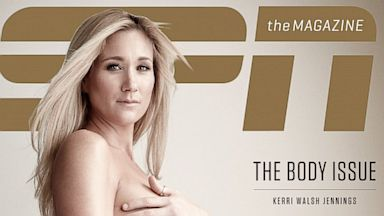 "PHOTO: Kerri Walsh Jennings appears on the special Body issue cover on ""ESPN the magazine""."