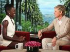PHOTO: Oscar nominated Best Supporting Actress for her role in 12 Years a Slave Lupita_Nyongo makes an appearance on The Ellen DeGeneres Show, Feb. 21, 2014.