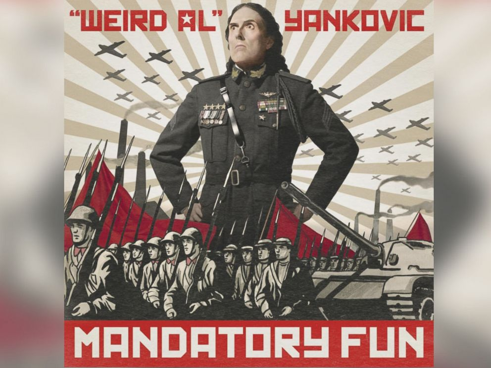 PHOTO: Weird Al Yankovics album cover, Mandatory Fun.