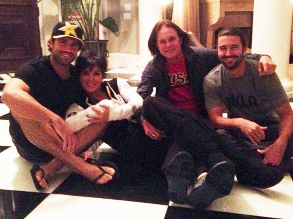 PHOTO: Brody Jenner posted, @krisjenner and I are dating now and @sprandoni and Bruiser seem pretty chill about it hahah, with this group photo with Kris Jenner, Oct. 10, 2013.