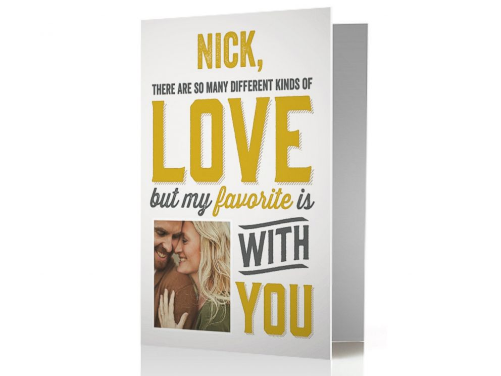 PHOTO: A TREAT Valentines Day card designed by Nick and Vanessa Lachey.