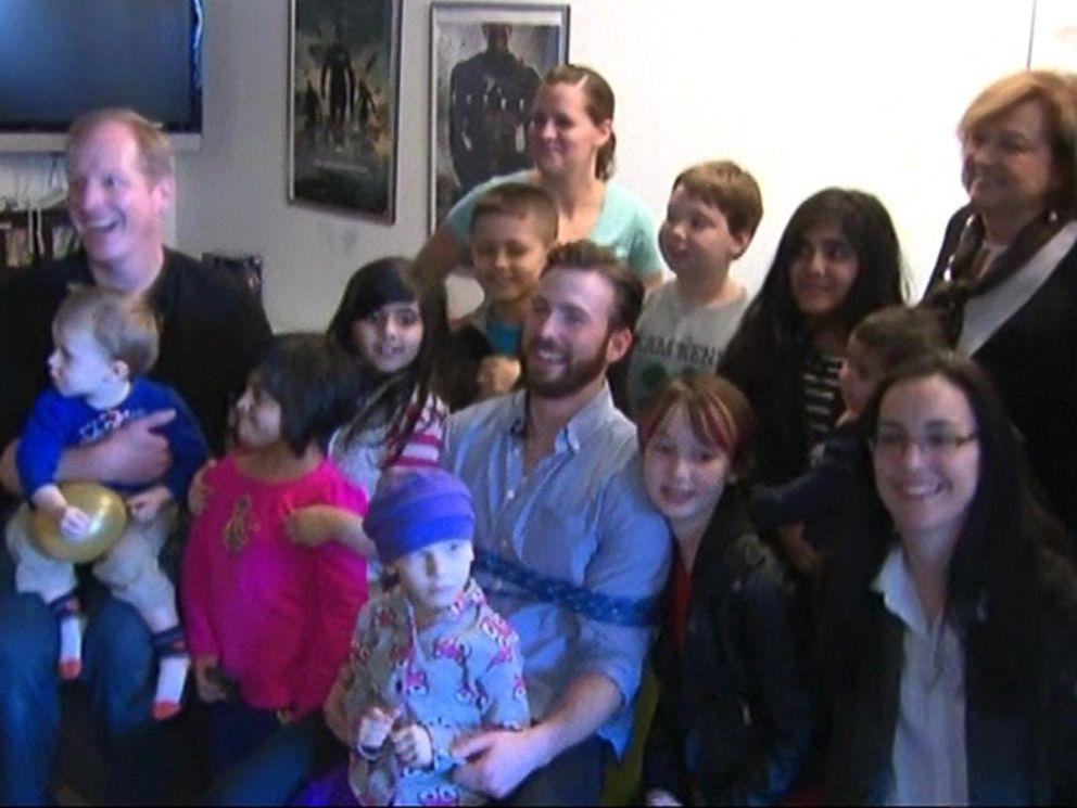 u0026 39 captain america u0026 39  chris evans surprises 9-year-old battling brain tumor