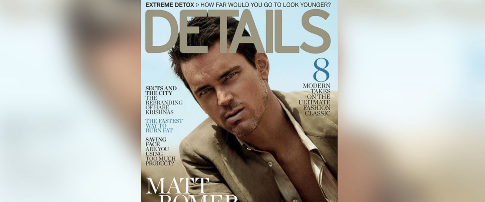 PHOTO: Matt Bomer poses on the May 2014 cover of Details.
