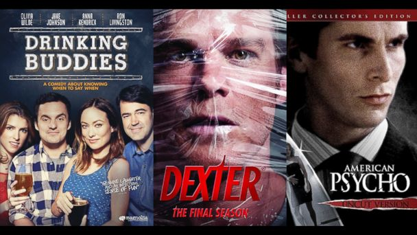 PHOTO: From left: Drinking Buddies, Dexter and American Psycho are shown.