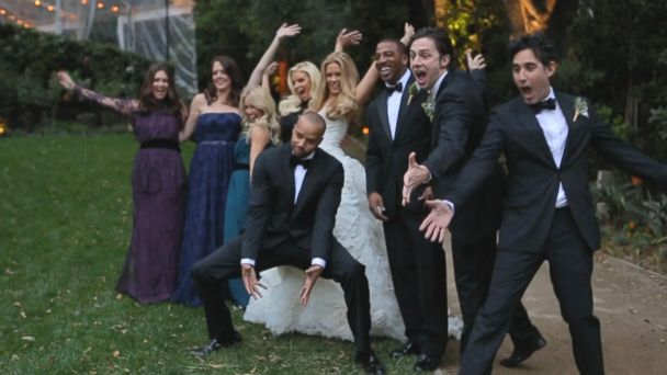 PHOTO: Donald Faison CaCee Cobb and guests are shown in this wedding video.